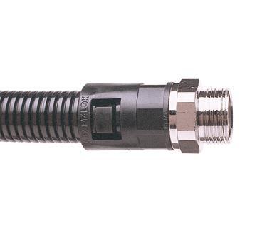Adaptaflex AL21//M20//A//BL M20 Adaptalok Straight Fitting Polyamide//Nylon 6.6 Black Pack of 10