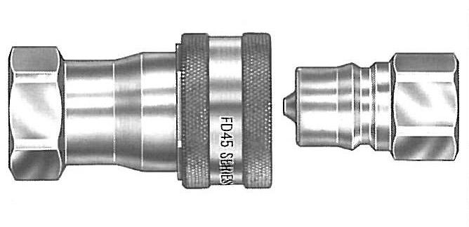 3//8-18 Aeroquip FD45-1003-06-06 /& FD45-1002-06-06 Quick Disconnect Coupler Set
